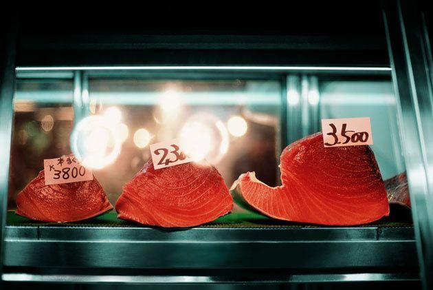 15 - Venta de sushi en la lonja de Tokio